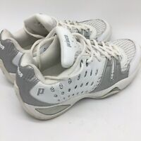 Prince Womens T22 White Silver Tennis Athletic Shoes 9.0