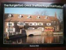 POSTCARD ROYAL MAIL HUNGERFORD - GREAT SHEFFORD ROYAL MAIL POSTBUS - DENFORD MIL