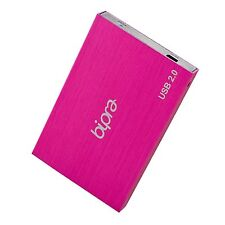 Bipra 160 Gb 2,5 Pulgadas Usb 2.0 FAT32 Portable Slim Disco Duro Externo-Rosa