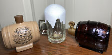 New ListingAvon Vintage 3 Empty Decanters After Shave, Bubble Bath Beer Keg Frothy Beer Mug