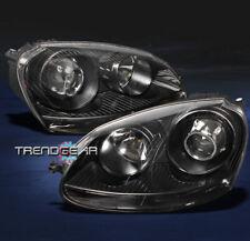 2006-2009 VW JETTA RABBIT GTI MK5 PROJECTOR HEADLIGHTS BLACK 2007 2008 PARKING