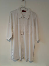 DUKE WHITE S/S CASUAL SHIRT    2XL    BNWT