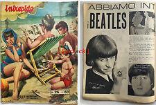 Rivista a Fumetti INTREPIDO 26 Universo 1965 BEATLES MERONI PININFARINA LE MANS