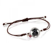 Stainless steel Natural Agate Lapis Pearl Crystal Amazonite Weave Bear Bracelet