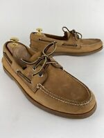 SPERRY TOP SIDER 0197640 2 Eye Boat Shoe Sahara Leather Size 11.5 S (narrow)