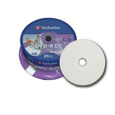 5 Verbatim DVD+R 8.5gb(8x)Dual Layer Full Face Printable 43667 in plastic sleeve