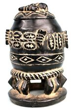 Art Africain Tribal - Pot ou Boite à Onguents Gouro - Guro Container - 17 Cms ++