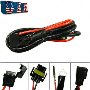 1PC 880 H8 H11 Relay Wiring Harness Kit For Fog Light, HID Conversion, LED DRL