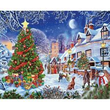 Full 5D Drill Diamond Painting Cross Stitich Christmas Night Craft Art Handmade