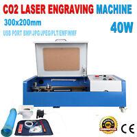 """Ridgeyard 40W Laser Engraving Cutting Machine Engraver Cutter 12x8"""" + 4 Wheels"""