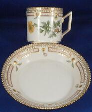Great Royal Copenhagen Porcelain Flora Danica Cup & Saucer Porzellan Kopenhagen