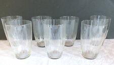7 verres orangeade cristal gravé art déco