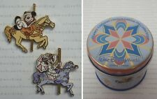 Disney World Carousel Horse MARY POPPINS MINNIE & BERT MICKEY Mystery Tin Pins