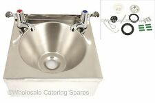BRAND NEW Stainless Steel HAND Wash CATERING Basin Sink with 2 LEVER taps