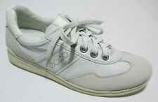ECCO Womens Off-White Leather Logo Sneakers Shoes Size 39 (8-8.5 US)