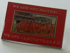 Cliftonville fc Belfast Irish Cup Final Protest Pin Badge Irish Football Celtic