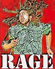 Rage Against The Machine Poster Art Large 16x20 Poster Print Zack De La Rocha