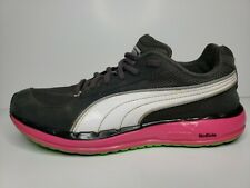 Puma Faas 500 Women's Athletic Running Shoes Pink Green White Gray US Size 9 EUC