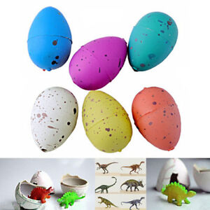 6x Hatching Dinosaur Add Water Growing Dino Eggs Inflatable Toys
