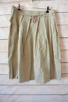 COUNTRY ROAD A line skirt sz 10 medium brown beige cotton pleated