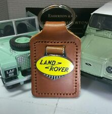 Land Rover Series 1 2 2a 3 Period Classic Quality Brown  Leather Key Ring Fob