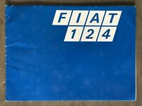 c1972 Fiat 124 original Uruguayan sales brochure