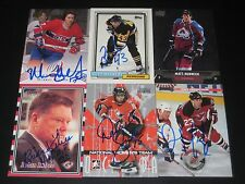 """MURRAY WILSON autographed MONTREAL CANADIENS """"centennial"""" card #165"""