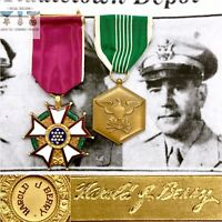 NAMED LEGION OF MERIT ARMY COMMENDATION MEDAL WWI KOREAN WAR COL. HAROLD J BERRY