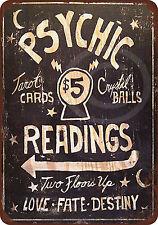 Psychic Readings $5 Tarot Cards Crystal Balls reproduction metal sign 8 x 12