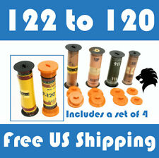122 to 120 Film Spool Adapter Set/Kit (4pcs) For Antique Vintage Cameras Folding