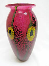 Vintage Studio Art Glass Vase Signed by Robert Eickholt