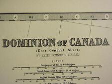 1896 grandes victorianas Mapa ~ Dominio de Canadá oriental Central Ontario Quebec