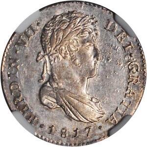 1817 NG M Guatemala 1 Real, NGC MS 63, Scarce Date, None Finer @ NGC