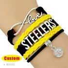 Pittsburgh Steelers Infinity Charm Bracelet NFL Football Sports QUALITY USA