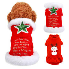 Ropa Para Perro Gato Navidad Disfraz De Navidad Cálido Con capucha Vestido para pequeños perros medianos
