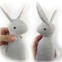 HK- Baby Rattle Animal Rabbit Infant Hand Bell Plush Kid Toy With BB Sound Gift