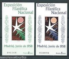 ESPAGNE - 1958 YT 19 et 20 BLOCS - NEUFS** LUXE - COTE 90,00 €
