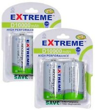 Extreme * 4 X 10000 mAh 'D' LR20 Pilas Recargables