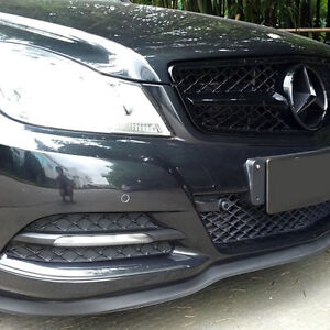 Universal Front Bumper Lip Splitter Chin Spoiler Body Kit Wing for MERCEDES BENZ