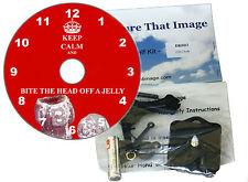 NUOVO KIT FAI DA TE CD CLOCK. mantenere la calma e mordere la testa a un Jelly Baby. MURO o scrivania