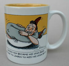 Coffee Mug Learn to Kiss Own Butt Become Your Own Boss Hallmark Cartoon Novelty