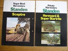 STANDEN HARVESTER TRACTOR AGRICUTURAL EQUIPMENT BROCHURES - 2 jm