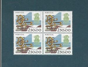 PORTUGAL ✱ 1992 WORK INSTRUMENTS  ✱ block of 4  MNH - CV €35