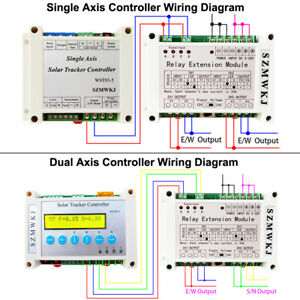 Single/Dual Axis Electronic Controller +Relay Module for Solar Panel Tracker Kit
