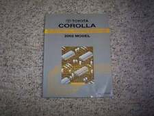 2002 Toyota Corolla Electrical Wiring Diagram Manual CE S LE 1.8L 4Cyl