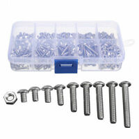 340pcs M3 A2 Stainless Steel Hex Screw Nuts Bolt Cap Socket Assortment Set