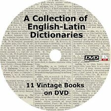 English-Latin Dictionary {11 Books} Language Library on DVD