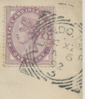 "2455 ""LONDON-S.E. / 3""  with code ""C XZ"" scarce Squared Circle Postmark VFU"