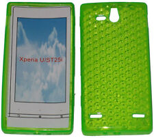 Pattern Soft Gel Case Protector Cover For Sony Ericsson Xperia U ST25i Green UK