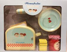 * Le Toy Van Honeybake Toast Toaster Set Puppenküche Spielküche NEU Holz